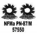 Frezy modułowe krążkowe do kół zębatych o zarysie ewolwentowym NFMa 57550